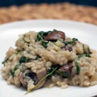 Mushroom and Arugula Risotto