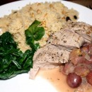 Pork Tenderloin with Roasted Grapes